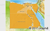 Political Shades 3D Map of Egypt, physical outside