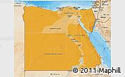 Political Shades 3D Map of Egypt, satellite outside, bathymetry sea