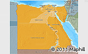 Political Shades 3D Map of Egypt, semi-desaturated, land only