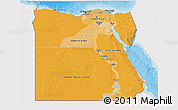 Political Shades 3D Map of Egypt, single color outside