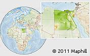 Physical Location Map of Egypt, lighten