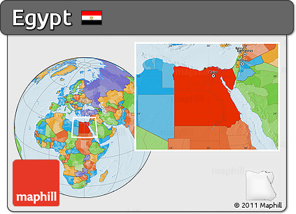 Free Political Location Map Of Egypt - Egypt location