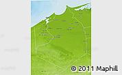 Physical 3D Map of Al Buhayrah (Behera)