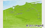 Physical Panoramic Map of Al Buhayrah (Behera)