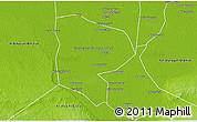 Physical 3D Map of Al Minufiyah (Menoufia)