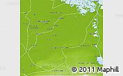 Physical 3D Map of Ash Sharqiyah (Sharkia)