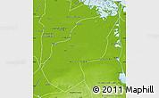 Physical Map of Ash Sharqiyah (Sharkia)