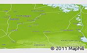 Physical Panoramic Map of Ash Sharqiyah (Sharkia)