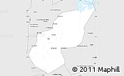Silver Style Simple Map of Ash Sharqiyah (Sharkia)