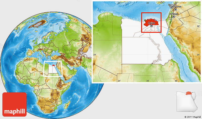 Physical location map of lower egypt highlighted country within 2d gumiabroncs Image collections