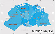 Political Shades Map of Lower Egypt, cropped outside
