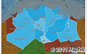 Political Shades Map of Lower Egypt, darken