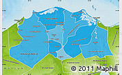 Political Shades Map of Lower Egypt, physical outside