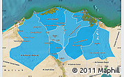 Political Shades Map of Lower Egypt, satellite outside