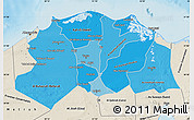 Political Shades Map of Lower Egypt, shaded relief outside