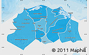 Political Shades Map of Lower Egypt, single color outside