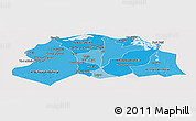 Political Shades Panoramic Map of Lower Egypt, cropped outside
