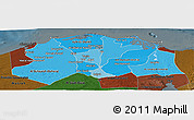 Political Shades Panoramic Map of Lower Egypt, darken