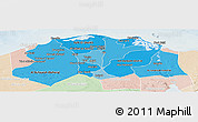 Political Shades Panoramic Map of Lower Egypt, lighten