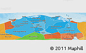 Political Shades Panoramic Map of Lower Egypt