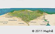 Satellite Panoramic Map of Lower Egypt