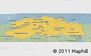 Savanna Style Panoramic Map of Lower Egypt