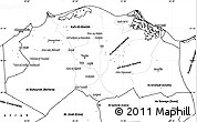 Blank Simple Map of Lower Egypt