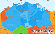 Political Shades Simple Map of Lower Egypt