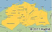 Savanna Style Simple Map of Lower Egypt