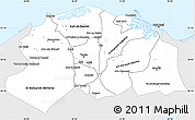 Silver Style Simple Map of Lower Egypt, single color outside