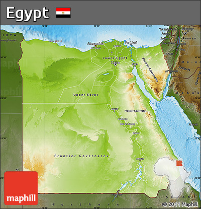 Free Physical Map Of Egypt Darken Land Only - Egypt physical map