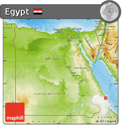 Free Physical Map Of Egypt - Egypt physical map