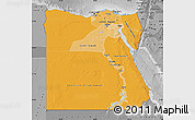Political Shades Map of Egypt, desaturated