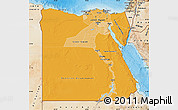 Political Shades Map of Egypt, satellite outside, bathymetry sea