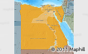 Political Shades Map of Egypt, semi-desaturated, land only