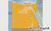 Political Shades Map of Egypt, semi-desaturated