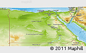 Physical Panoramic Map of Egypt