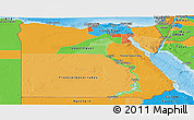 Political Panoramic Map of Egypt
