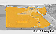 Political Shades Panoramic Map of Egypt, desaturated