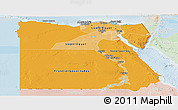 Political Shades Panoramic Map of Egypt, lighten