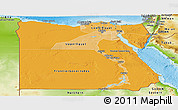 Political Shades Panoramic Map of Egypt, physical outside