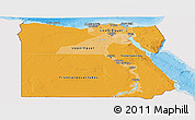 Political Shades Panoramic Map of Egypt, single color outside