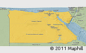 Savanna Style Panoramic Map of Egypt