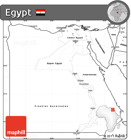 Free Blank Simple Map Of Egypt - Map of egypt blank