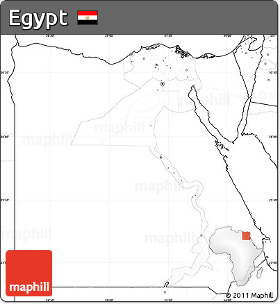 Free Blank Simple Map Of Egypt No Labels - Map of egypt blank