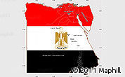 Flag Simple Map of Egypt