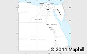 Silver Style Simple Map of Egypt, single color outside