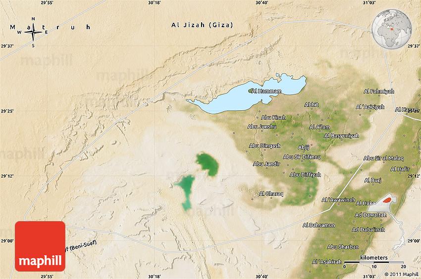 Satellite Map Of Al Fayyum Fayoum - Map of fayoum egypt