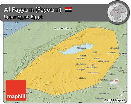 Free Savanna Style Map of Al Fayyum Fayoum