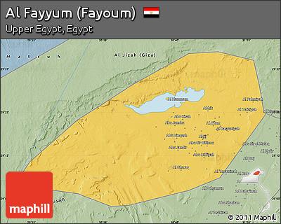 Free Savanna Style Map Of Al Fayyum Fayoum - Map of fayoum egypt